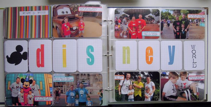 Create a title for a special week, like a vacation to Disney! By Monica at Scrap Inspired