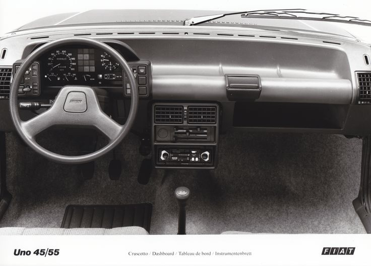 fiat uno 45 55 dashboard 1983 car factory press photos pinterest fiat uno fiat and car. Black Bedroom Furniture Sets. Home Design Ideas