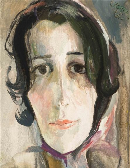 Paul Citroen - Charlotte; Creation Date: 1962; Medium: Oil on canvas…
