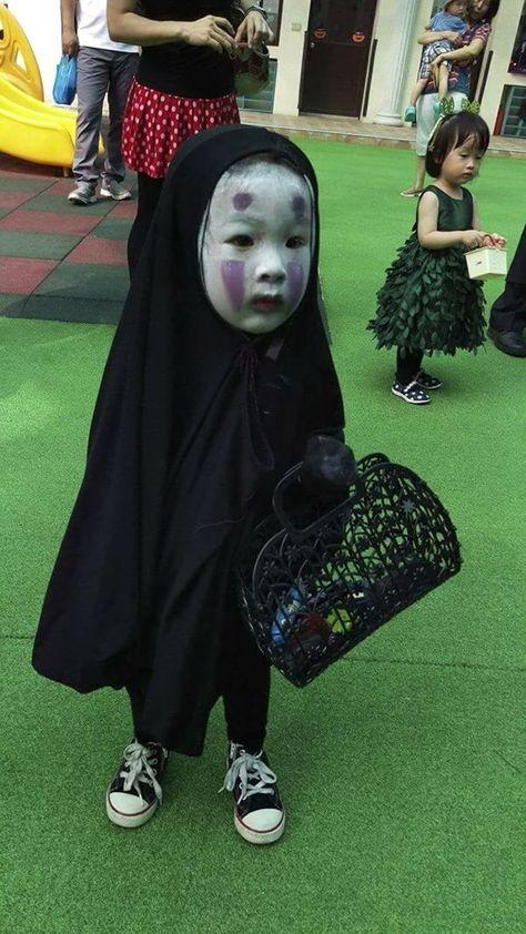 園児がハロウィンでカオナシの仮装に関連した画像-03