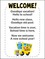 Image result for welcome back to school poem