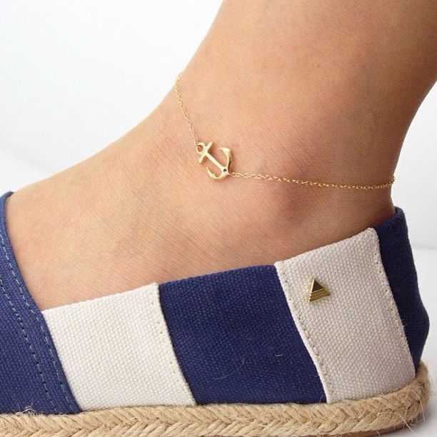 Beautiful Anchor Anklet! What do you think?! (also available in silver) Follow @donoco... | Use Instagram online! Websta is the Best Instagram Web Viewer!