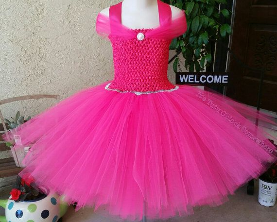 PICK YOUR PINK! Princess Tutu Dress, Hot Pink Tutu Dress, Fuchsia Tutu, Pink Princess Dress, Pink Cinderella Dress, Pink Sleeping Beauty