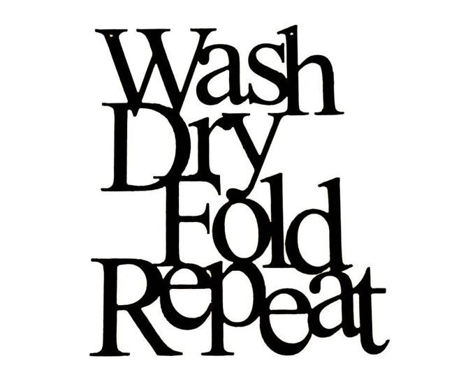 set of four signs wash dry fold repeat sign reclaimed sign Art Area laundry room sign wash dry fold repeat metal sign laundry room metal wall art home decor laundry room decor cutout with saying word art