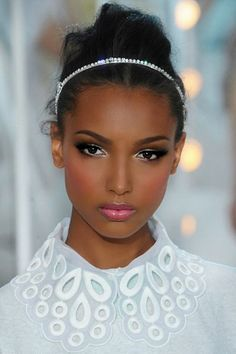 Great date makeup. That's her perfect pink.