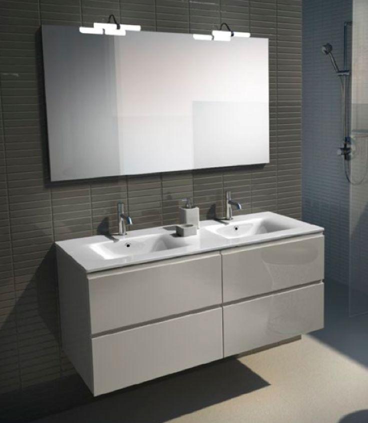 Es un mueble para el cuarto de ba o de color blanco de - Espejos para lavabos ...