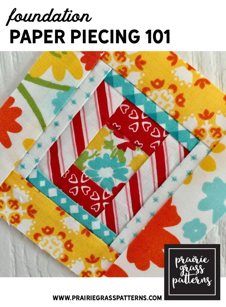 Paper Foundation Piecing, commonly called paper piecing, is a method of piecing quilt blocks using a printed paper for stitch lines. It allows a sewist to make blocks with small sized pieces or com…