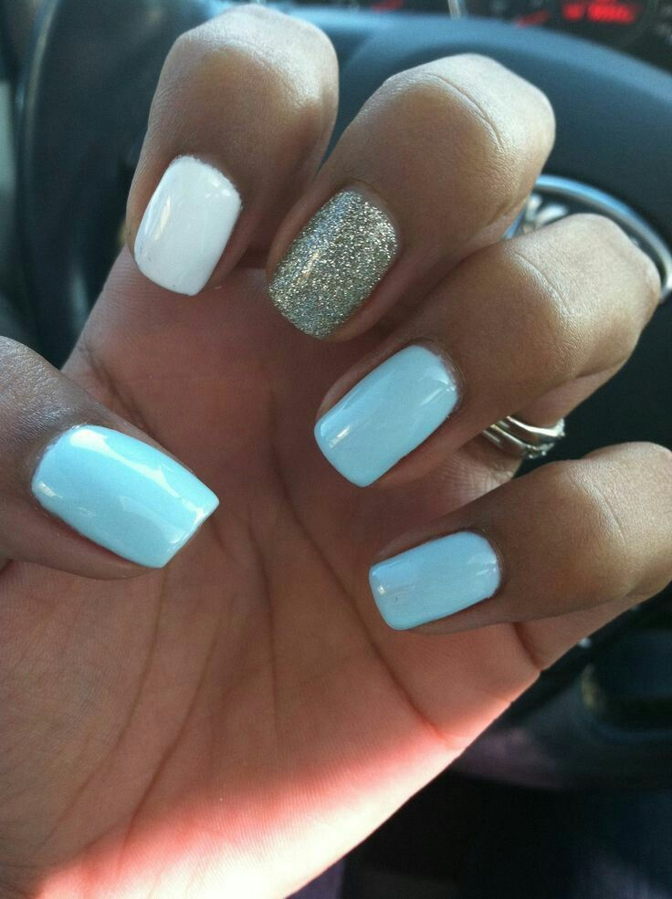 53 Attractive Glitter Nails Ideas For This Season Simple Acrylic