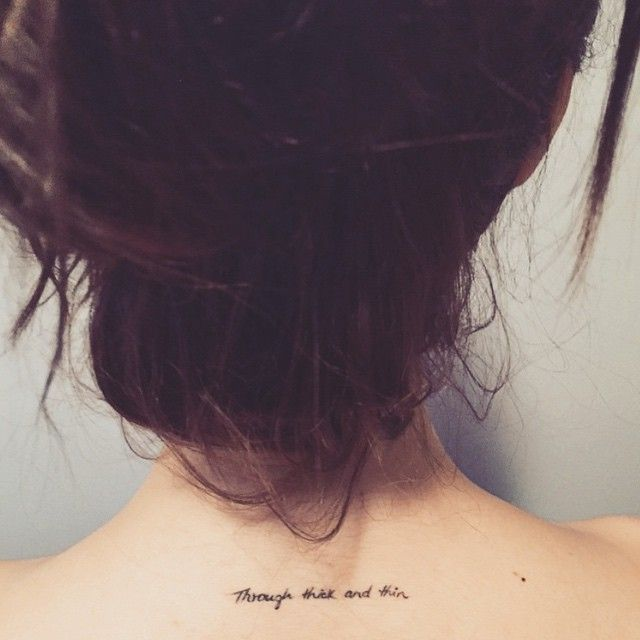 Through thick and thin ✨ #tattoo #tattoos #throughthickandthin #littletattoos