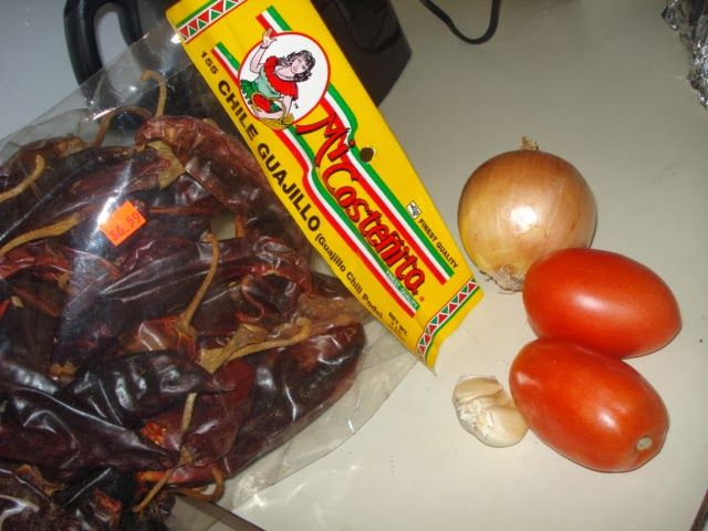 Home made enchilada sauce: DOES NOT USE A SPICE BLEND. Ingredients: Dried red chillie peppers, tomatoes 1 large or 2 Roma,1 small onion, 5 or 6 garlic cloves, salt to taste, water. Pressing In and Pressing On with Starla J. :