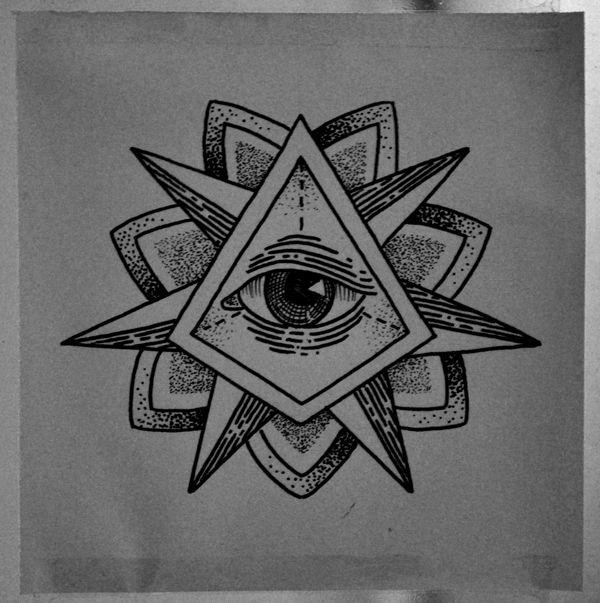 Triangle Eye Tattoo by Guilherme Hass, via Behance