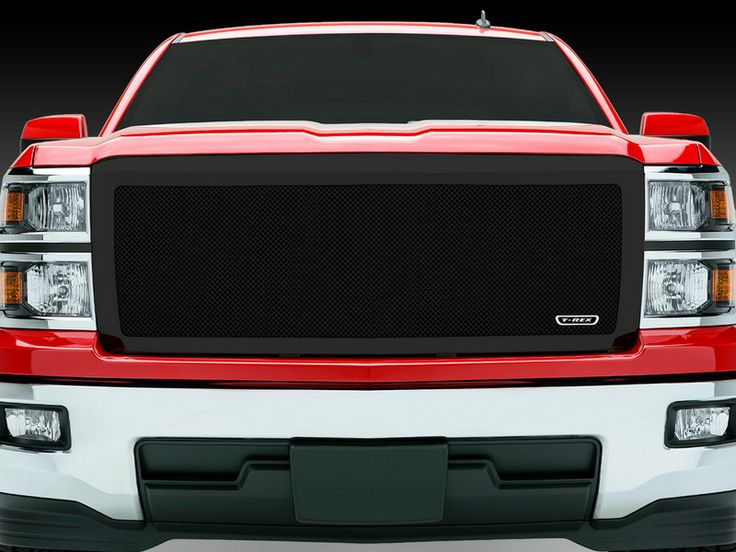 2014 2015 chevy silverado 1500 mesh grille black replacement upper class series by t rex - Grille indiciaire 2015 categorie c ...