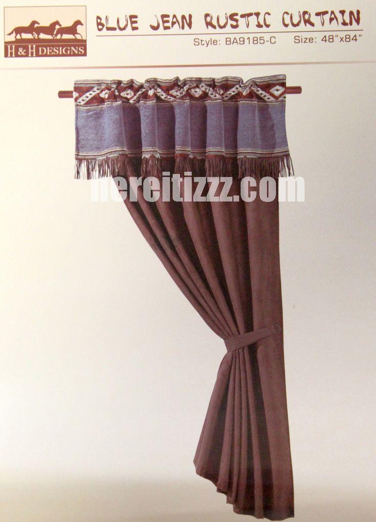Blue Jean Rustic Western Curtain