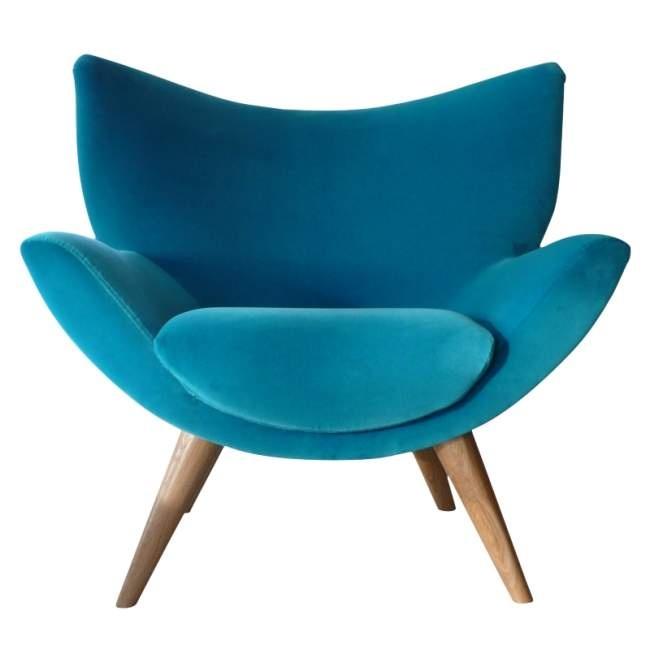 Turquoise retro chair. Kinda mid-century modern. Super.