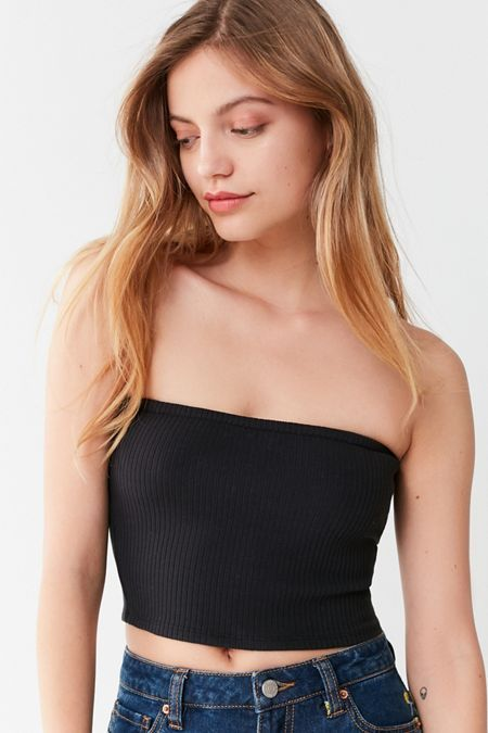738f621712b UO Hallie Ribbed Knit Tube Top