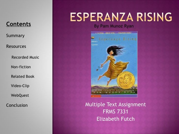 Multiple text esperanza rising