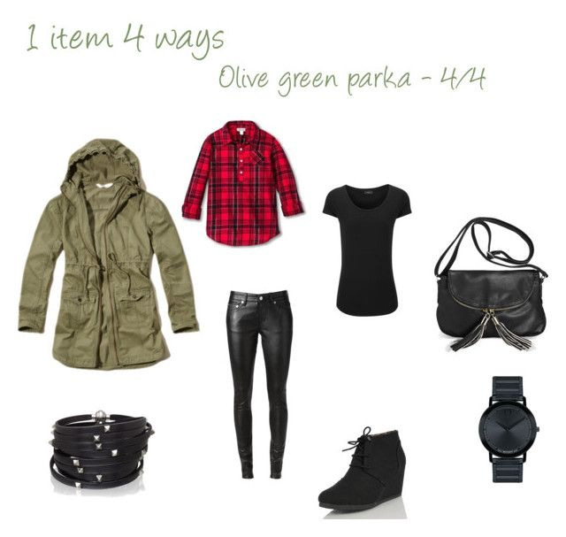 """Spring essentials: Olive green parka - 4/4"" by niki-1hourforme on Polyvore featuring Yves Saint Laurent, Nature Breeze, Joseph, Avenue, Movado and Sif Jakobs Jewellery"