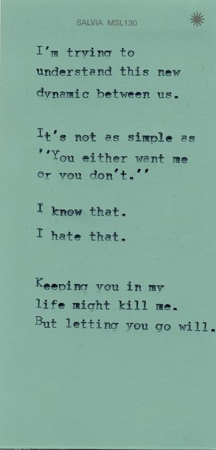 But letting you go will.