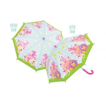 NEW!!! Princess and Castle Colour Changing umbrella.  When wet the images become…