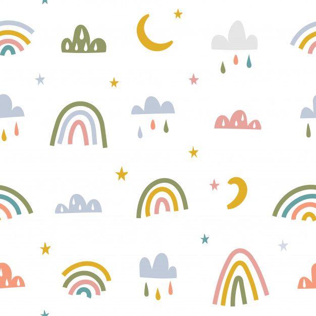 Scandinavian Style Baby Seamless Pattern In 2020 Seamless Patterns Aesthetic Iphone Wallpaper Black Aesthetic Wallpaper