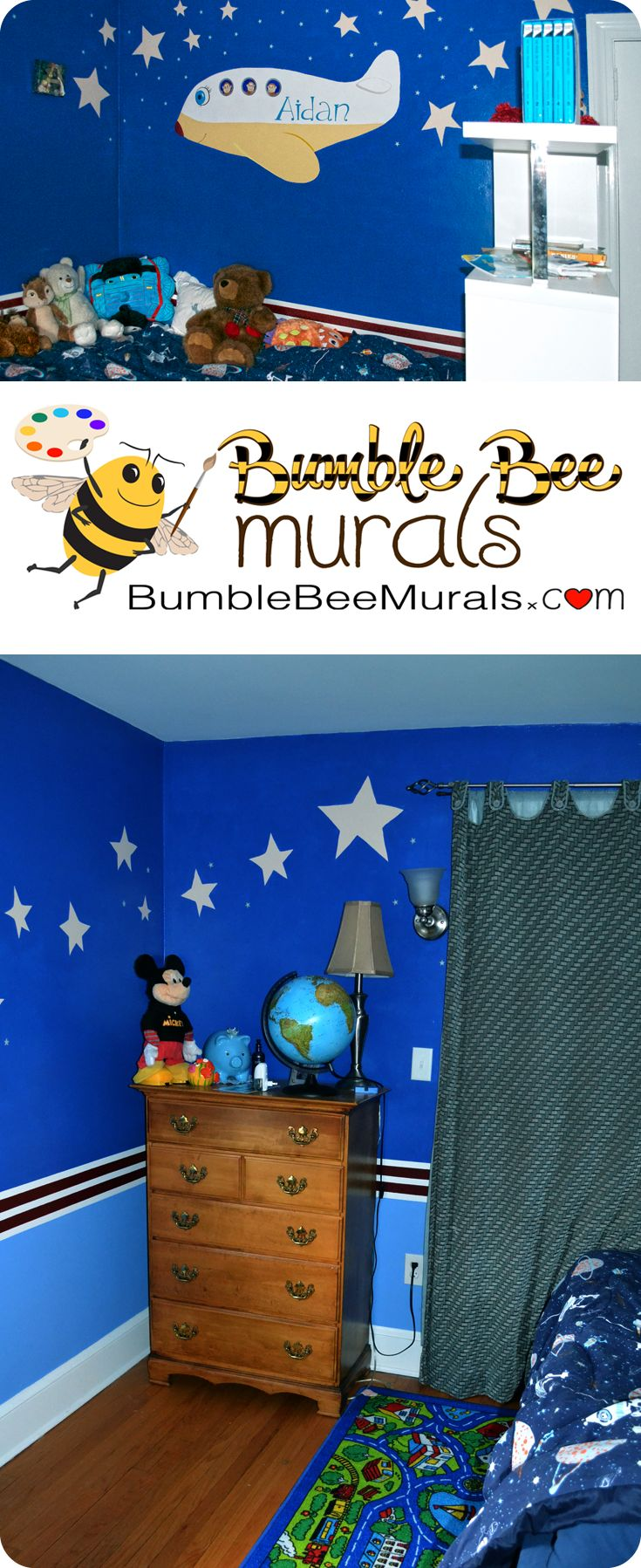 32 best nursery wall murals images on pinterest nursery wall stars stripes and airplanes custom wall mural hand painted for a child s bedroom