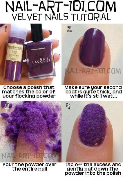 VELVET NAILS!!!! I WAS DIEING TO KNOW HOW TO DO THIS