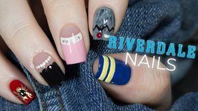 Riverdale Nail Art | NailsByErin #riverdale #nailart # riverdaleseason3 #bughead…