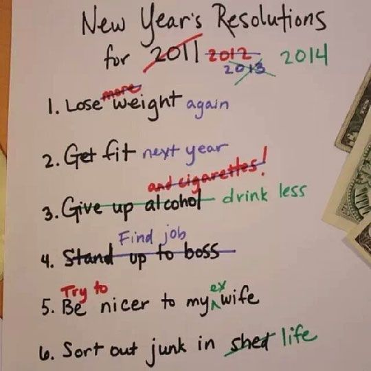 Rearranging new year's resolutions...