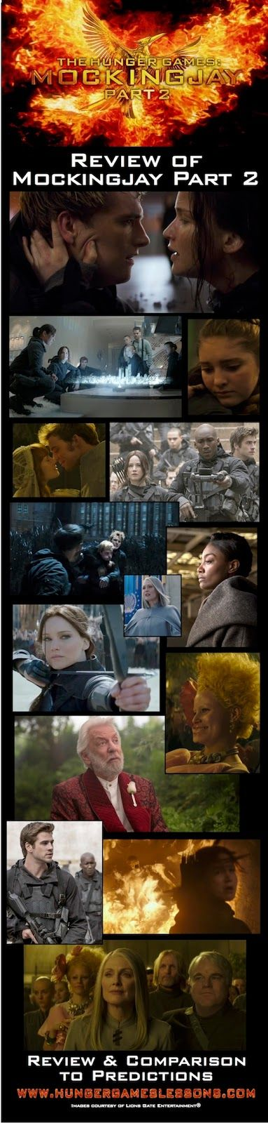 Hunger Games Lessons: Mockingjay Part 2 Movie Review