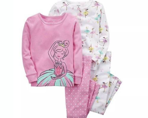 88cfd5b2b8cc Sleepwear 147215  Carters Girls 4 Piece Ballerina Pajama Set Size 18 ...