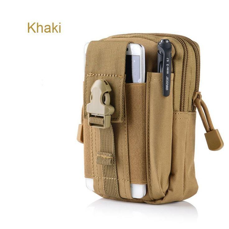 Men's Tactical Molle Waist Pack Hip Phone Case For Doogee T6 Pro/X5 Max Pro/T3/F7 Pro/X5S/X3/DG320/Y300/X6/Valencia2 Y100 Plus