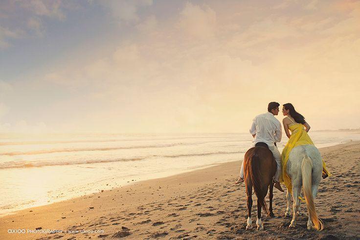 prewedding with horse