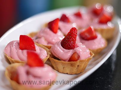 25 best continental cuisines images on pinterest kitchens sanjeev how to make strawberry shrikhand fruit tarts strawberry flavoured shrikhand and fruits filled into tart shells forumfinder Image collections