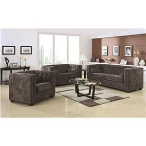 Coaster Alexis CH Stationary Living Room Group   Del Sol Furniture    Upholstery Group Phoenix,