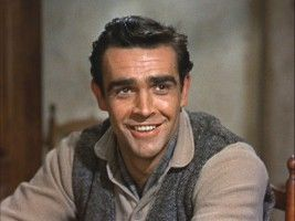 Sean Connery (yep, a young pic- I love the scene where he sings in Darby O'Gill and the Little People!)
