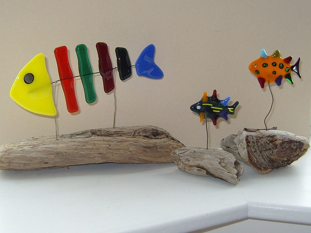 Fused Glass Fishies by lazydaisyglass, via Flickr