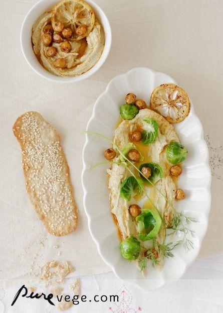 Paté de garbanzos / Tahini / Galletitas de espelta {{♥}}  #vegan