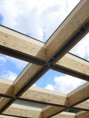 Roof structure with skylight (Kindergarden, Roof structure, skylight, wood, steel,glass)