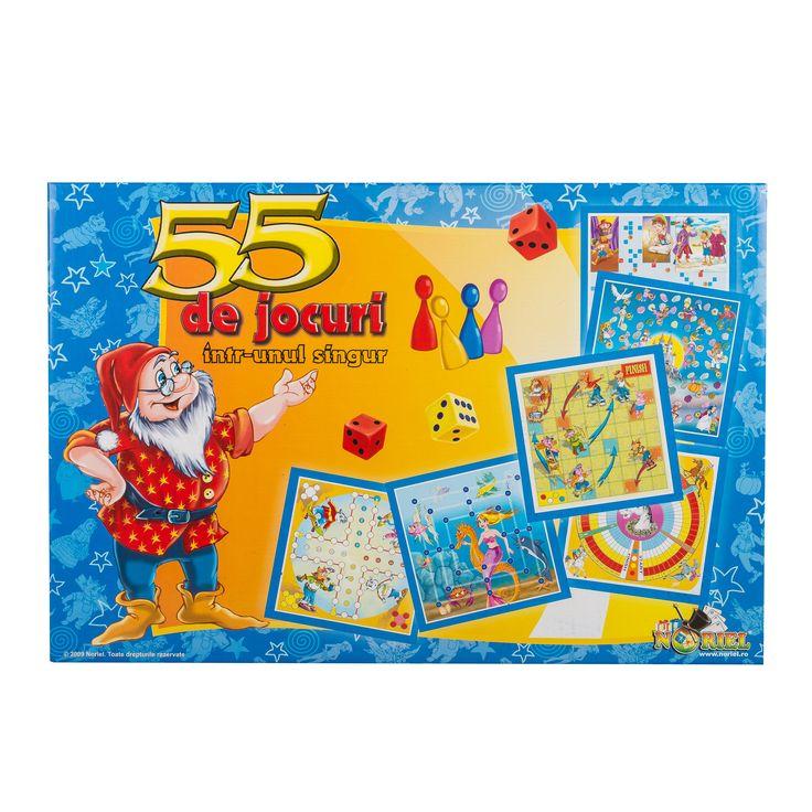 Joc NORIEL 55 de jocuri intr-unul singur, jocuri educative ieftine de Craciun