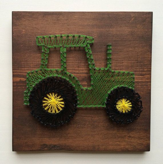 Tractor String Art