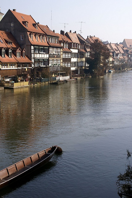 """This area is called """"Little Venice""""...the fishermen,'s houses along the river. Quaint, but weather and time aged. They even brought in gondolas from Venice to give tourists rides. Bamberg, Germany"""