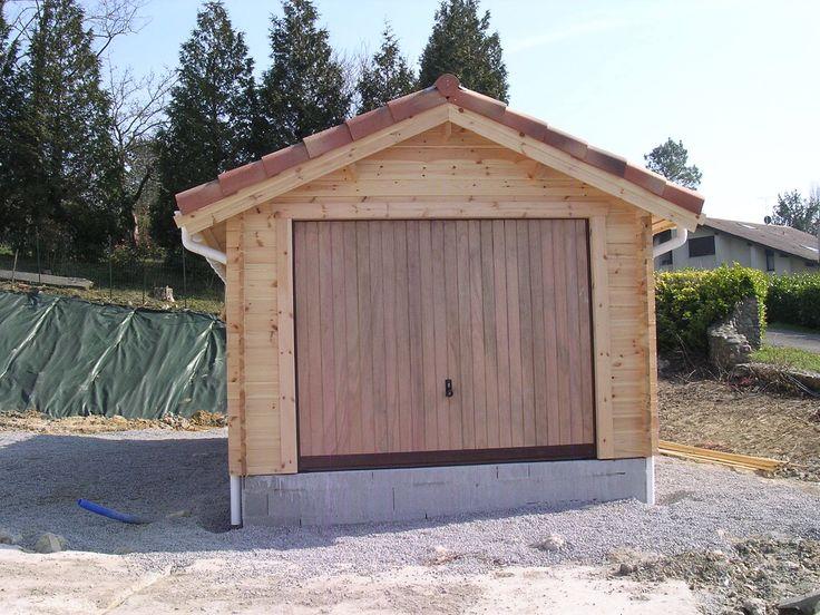 garage bois avec tuile #garagebois garage, abri voiture Pinterest
