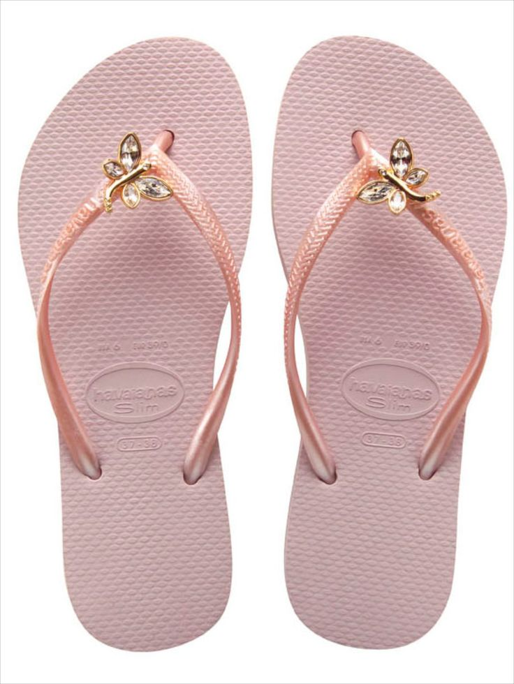 Dragonfly Collection | Havaianas - Slim crystal dragonfly flip flops