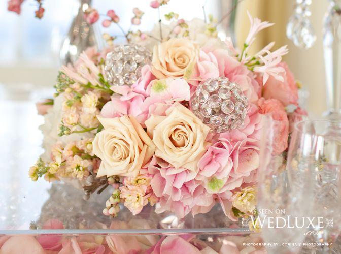 Wedding bouquet?: Pink Wedding, Champagne, Brooches Bouquets, Wedding Bouquets, Rose Wedding, Pink Crystals Wedding Flower, Crystals Ball, Wedding Cake, Wedding Centerpieces