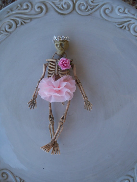 Ballerina Skeleton halloween Ornament by JeanKnee on Etsy, $6.00...I can make this!