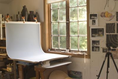Setting a photo shoot area along with tips and suggestions on how best to show your work.
