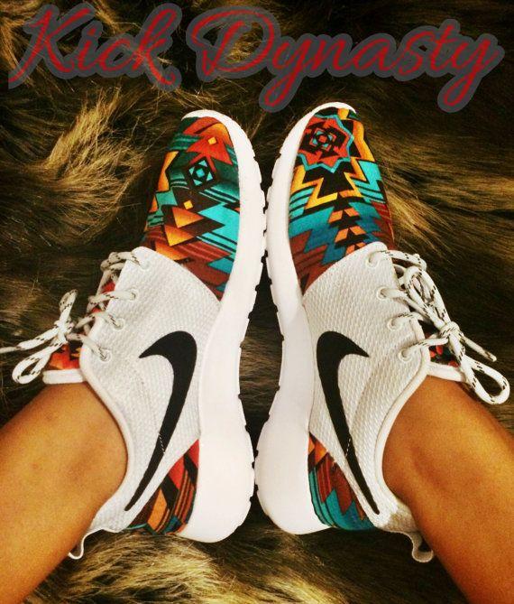 Nike Tribal Roshe Run Custom Sneakers by KickDynasty on Etsy