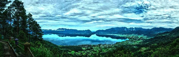 Panoramic View of Maninjau Lake by neilstha firman