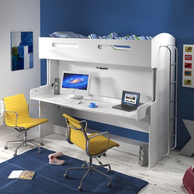Een wel héél bijzondere #hoogslaper: in een handomdraai een logeerbed of bureau!
