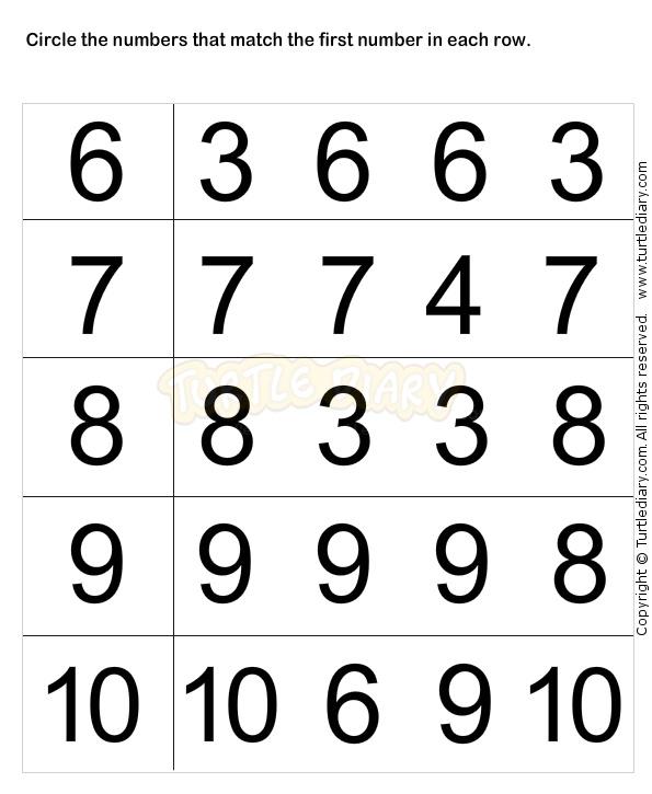 Learn Numbers Worksheet2 - math Worksheets - preschool Worksheets